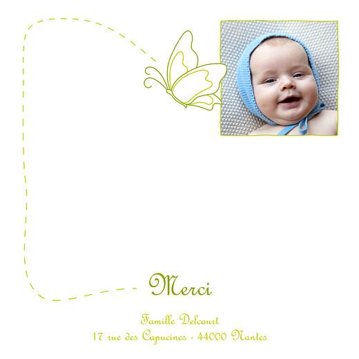 Carte de remerciement Petit origami papillon vert - Page 1