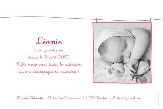 Faire-part de naissance Fil à linge liberty photo rv rayé - Page 2