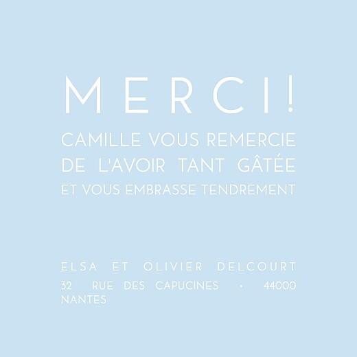 Carte de remerciement Mini justifie bleu dragée - Page 1
