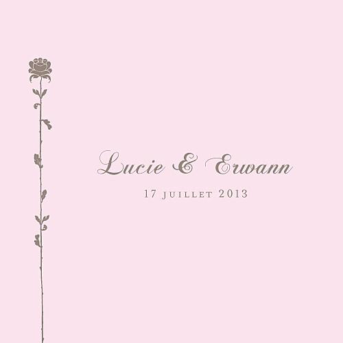 Faire-part de mariage Fleur de lotus 4 pages rose pâle