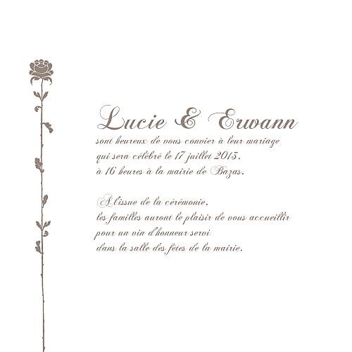 Faire-part de mariage Fleur de lotus 4 pages rose pâle - Page 3