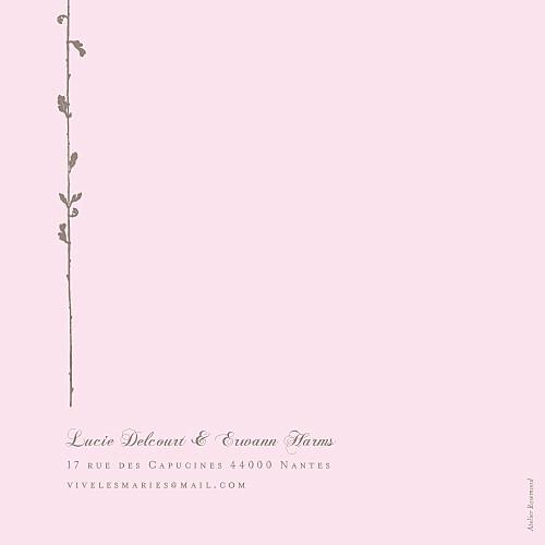 Faire-part de mariage Fleur de lotus 4 pages rose pâle - Page 4