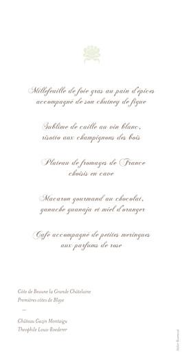 Menu de mariage Fleur de lotus rv vert pâle - Page 2