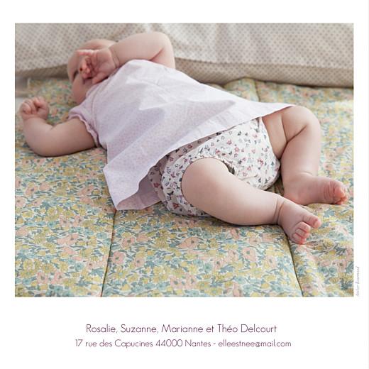 Faire-part de naissance Simple 2 photos blanc - Page 2