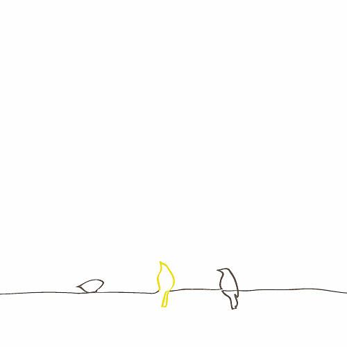 Menu de mariage Oiseaux 4 pages jaune - Page 2