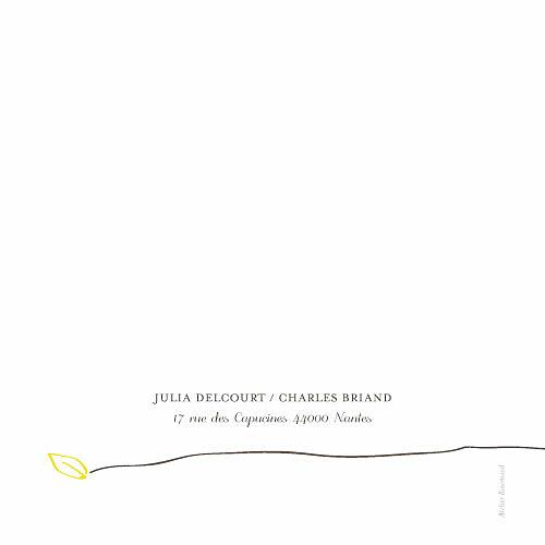 Menu de mariage Oiseaux 4 pages jaune - Page 4