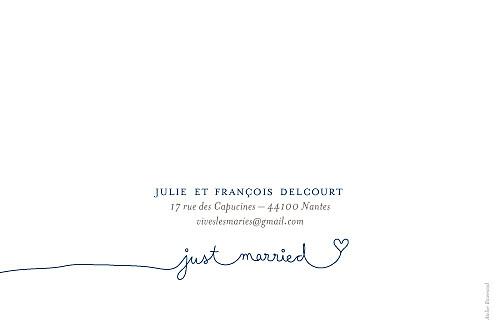 Carte de remerciement mariage Voiture de collection bleu