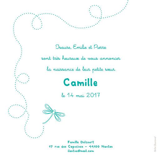 Faire-part de naissance Libellule 3 photos bleu vert - Page 2