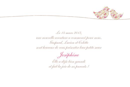 Faire-part de naissance Poétique 4 pages rose - Page 3