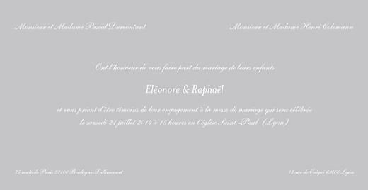 Faire-part de mariage Élégant feuillet gris pale - Page 3