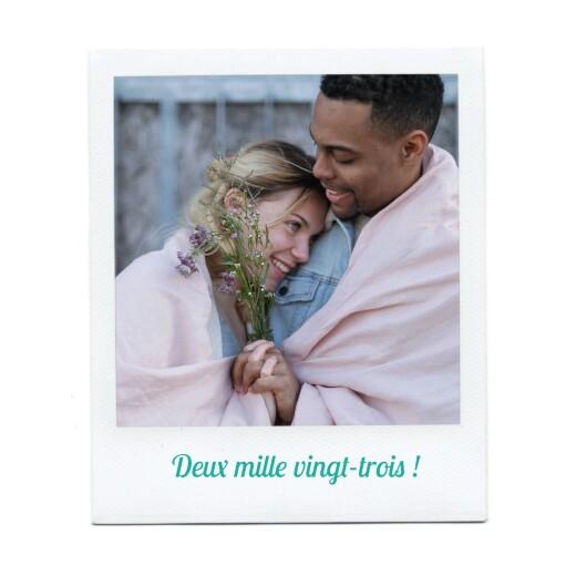 Carte de voeux Polaroid 2 photos blanc