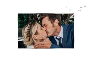 Carte de remerciement mariage Promesse blanc