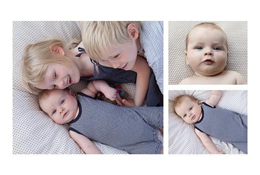 Faire-part de naissance À bicyclette (2 enfants) photos vert - Page 2