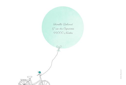 Faire-part de naissance À bicyclette (2 enfants) photos vert