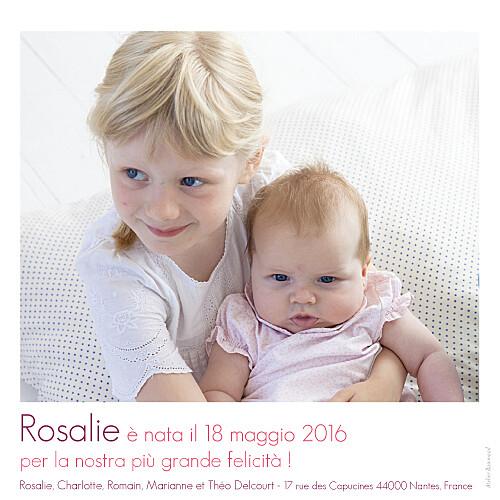 Faire-part de naissance Bilingue simple 2 photos blanc - Page 2