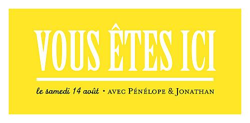 Marque-place mariage Un grand oui ! jaune - Page 4