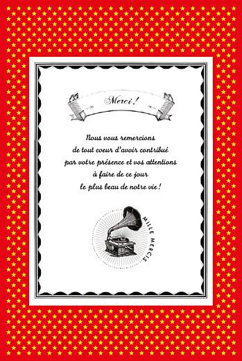 Carte de remerciement mariage Festival rouge - Page 2