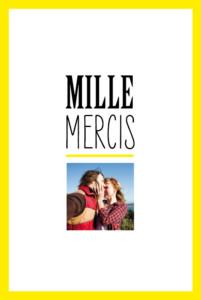 carte de remerciement mariage un grand oui jaune - Formule Remerciement Mariage