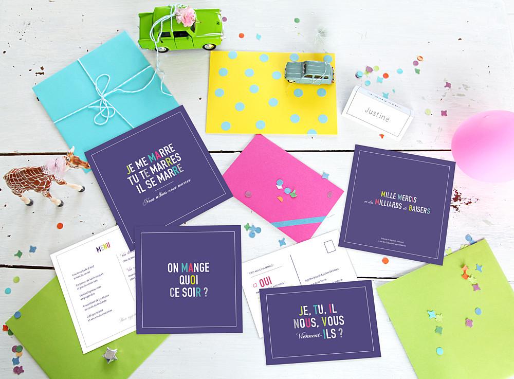 Carton réponse mariage Marrons-nous violet