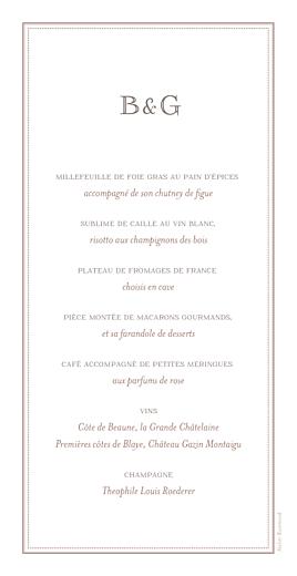 Menu de mariage Motif chic turquoise - Page 2