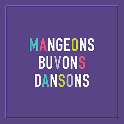 Carton d'invitation mariage Marrons-nous violet finition