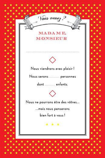 Carton réponse mariage Festival rouge