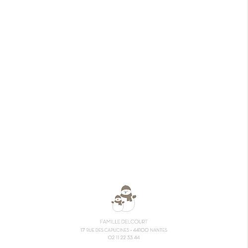 Carte de voeux Bonhomme de neige 4 pages beige - Page 2