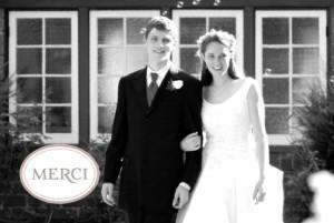 Carte de remerciement mariage Motif chic turquoise