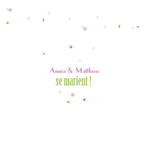 Faire-part de mariage Poupées russes fleurette