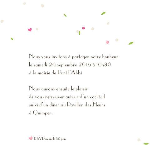 Faire-part de mariage Poupées russes fleurette - Page 3