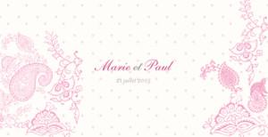 Faire-part de mariage Plumetis framboise