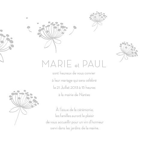 Faire-part de mariage Envolée gris - Page 3