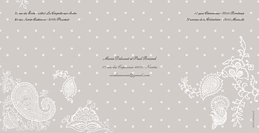 Faire-part de mariage Plumetis taupe gris - Page 4