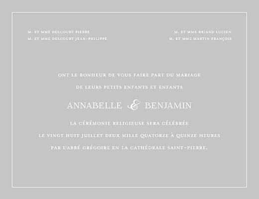Célèbre Faire-part de mariage Classique liseré (4 pages) - Atelier Rosemood RT46