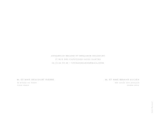 Faire-part de mariage Classique liseré (4 pages) gris - Page 4
