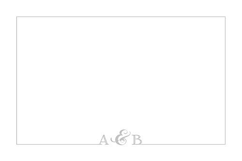 Carton d'invitation mariage Classique liseré gris