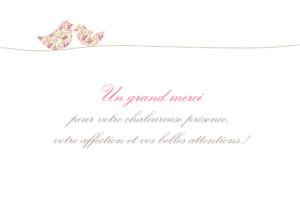 Carte de remerciement Merci poétique paysage rose