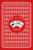 Carton d'invitation mariage Au pays des merveilles rouge