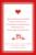 Carton d'invitation mariage Au pays des merveilles rouge - Page 2