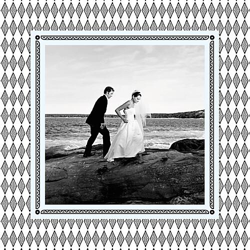 Carte de remerciement mariage Au pays des merveilles blanc