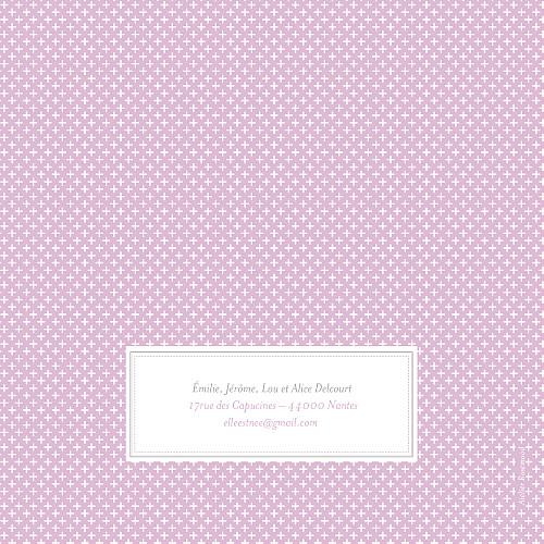 Faire-part de naissance Motif chic parme - Page 4