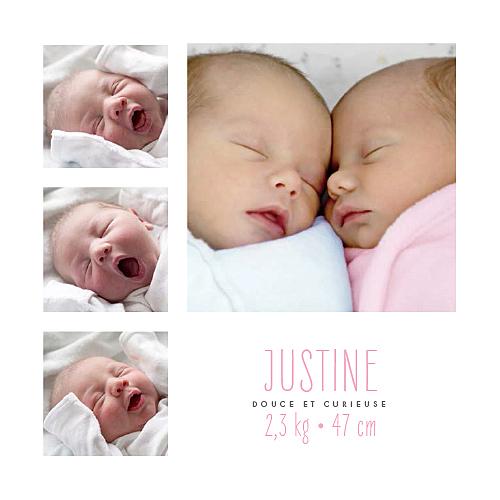 photo faire part naissance jumeaux avec photos