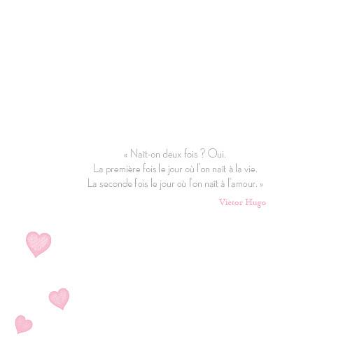 Faire-part de mariage Coeurs gris pâle - Page 2