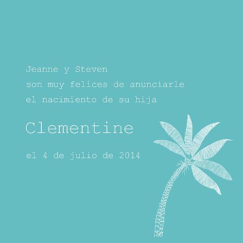 Faire-part de naissance Bilingue tropiques photo turquoise - Page 3