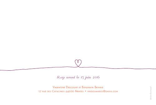 Faire-part de mariage Pacs violet