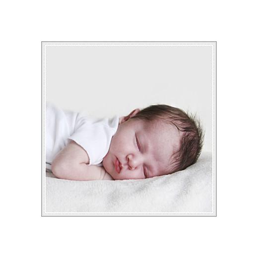 Faire-part de naissance Motif chic 2 photos bleu dragée - Page 2
