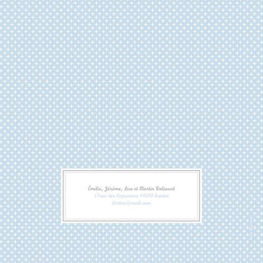 Faire-part de naissance Motif chic 2 photos bleu dragée - Page 4