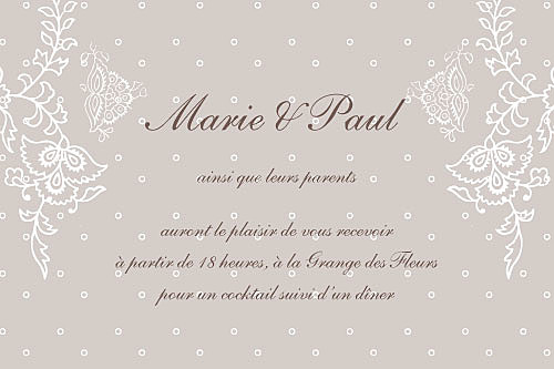 plumetis carton d 39 invitation mariage. Black Bedroom Furniture Sets. Home Design Ideas