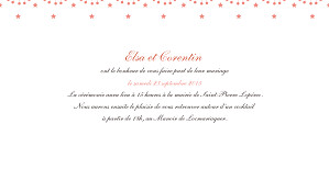 Faire-part de mariage Hollywood corail