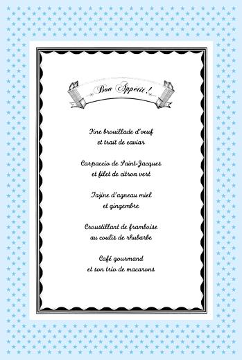 Menu de baptême Festival bleu - Page 3
